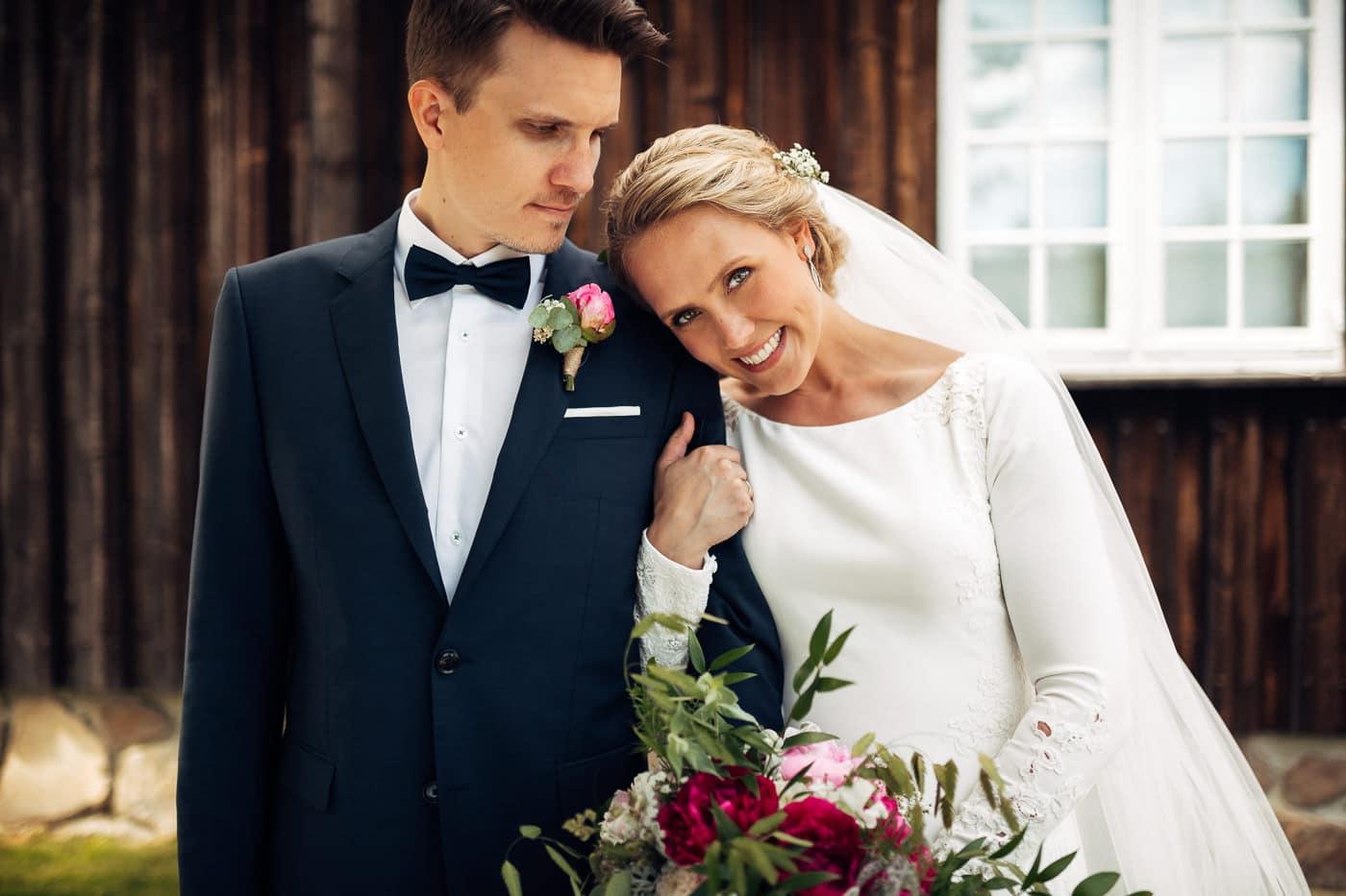 Karoline & Andreas - bryllup i Østfold med magiske detaljer Bryllup Fredrikstad Fotograf 35