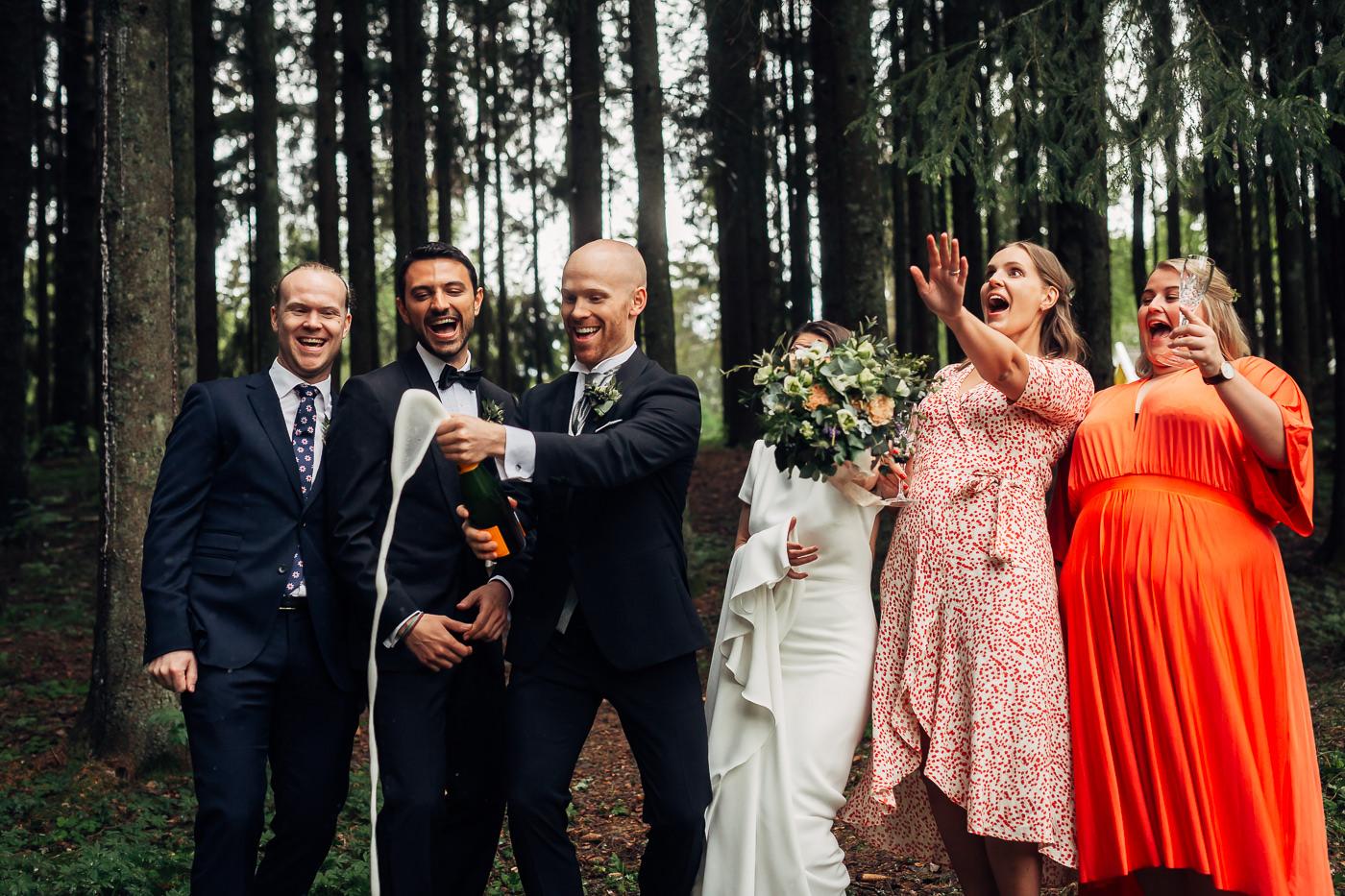 Malene & Ole Martin - elegant dansk- norskt bryllup i Oslo Bryllup Gamle Aker Oslo 30 Akershus