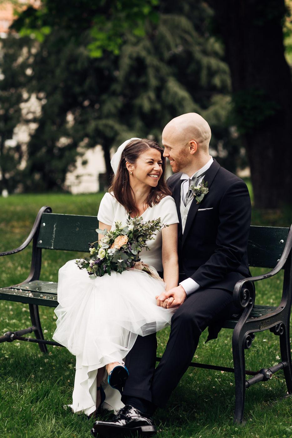 Malene & Ole Martin - elegant dansk- norskt bryllup i Oslo Bryllup Gamle Aker Oslo 38 Akershus