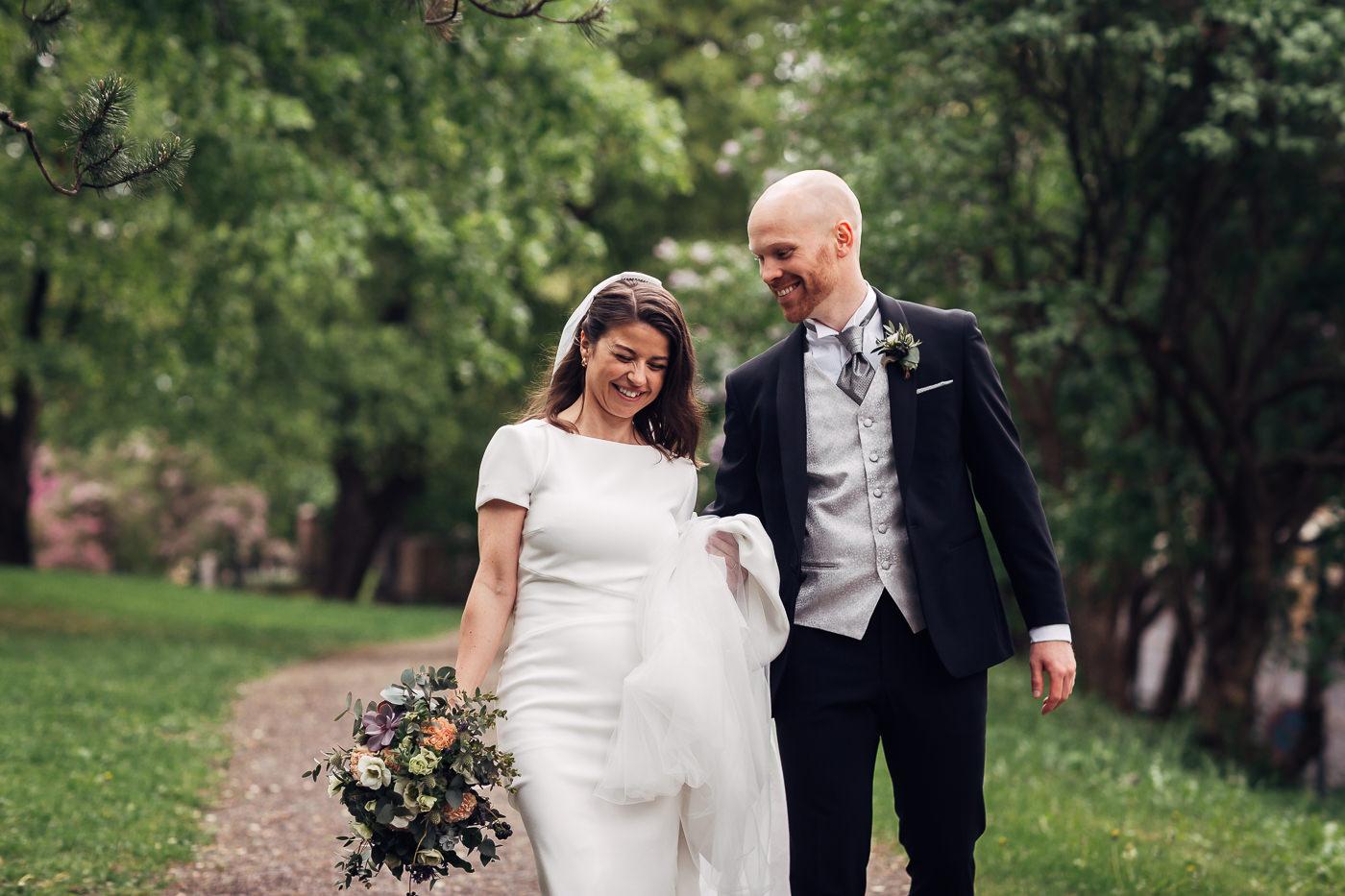 Malene & Ole Martin - elegant dansk- norskt bryllup i Oslo Bryllup Gamle Aker Oslo 41 Akershus