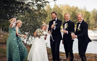 Linn & Frank – rørende og vakkert låvebryllup i Minnesund
