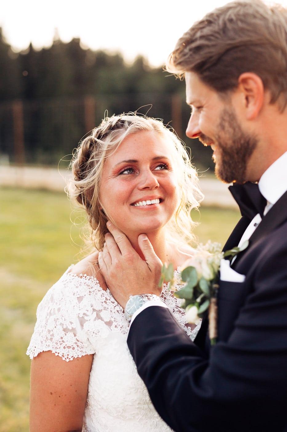 Linn & Frank - rørende og vakkert låvebryllup i Minnesund Bryllupsbilder Minnesund Eidsvoll 86 Brudepar