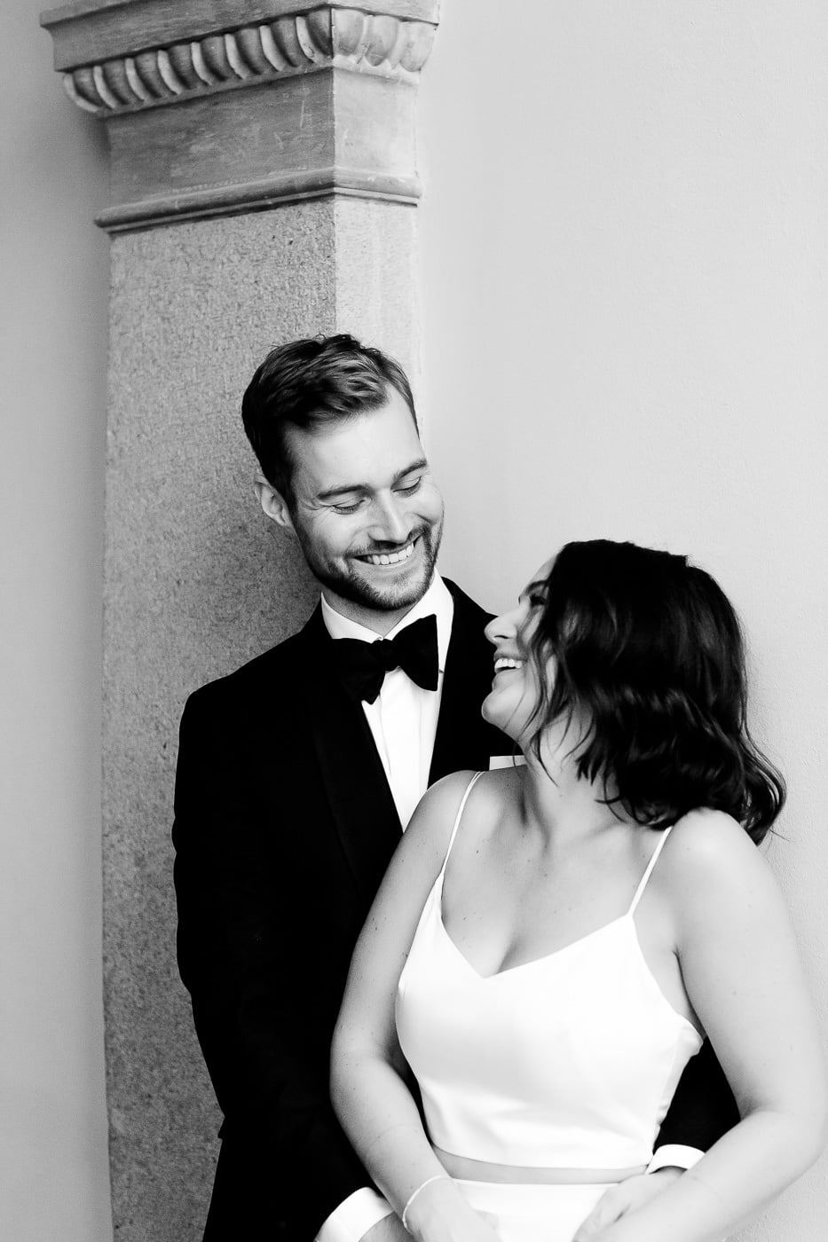 Caroline & Bendik - avslappet og morsomt bryllup i Ski Fotograf bryllup ski 15 Brudepar