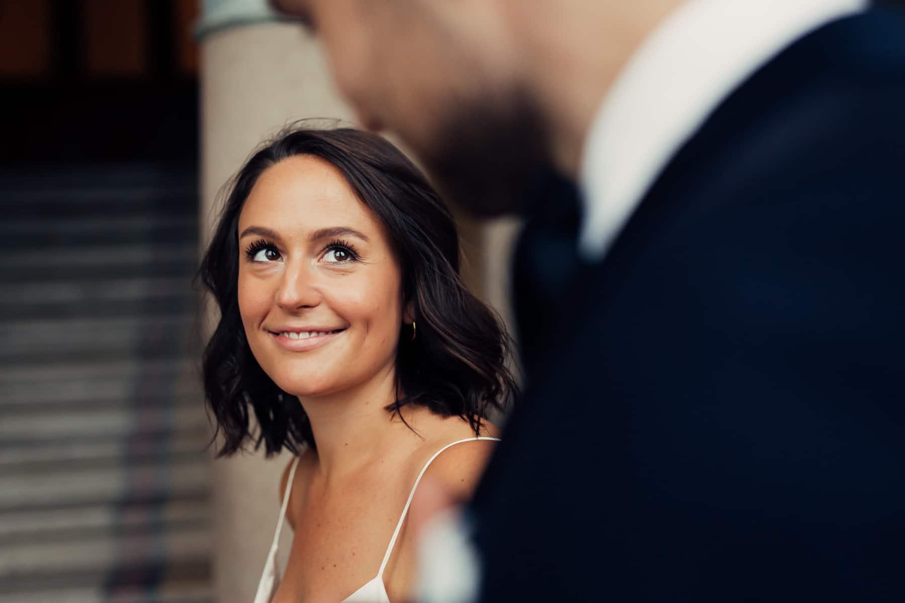 Caroline & Bendik - avslappet og morsomt bryllup i Ski Fotograf bryllup ski 16 Brudepar