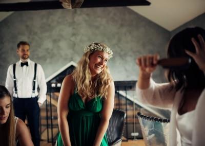 En bryllupsdag Fotograf bryllup ski 24