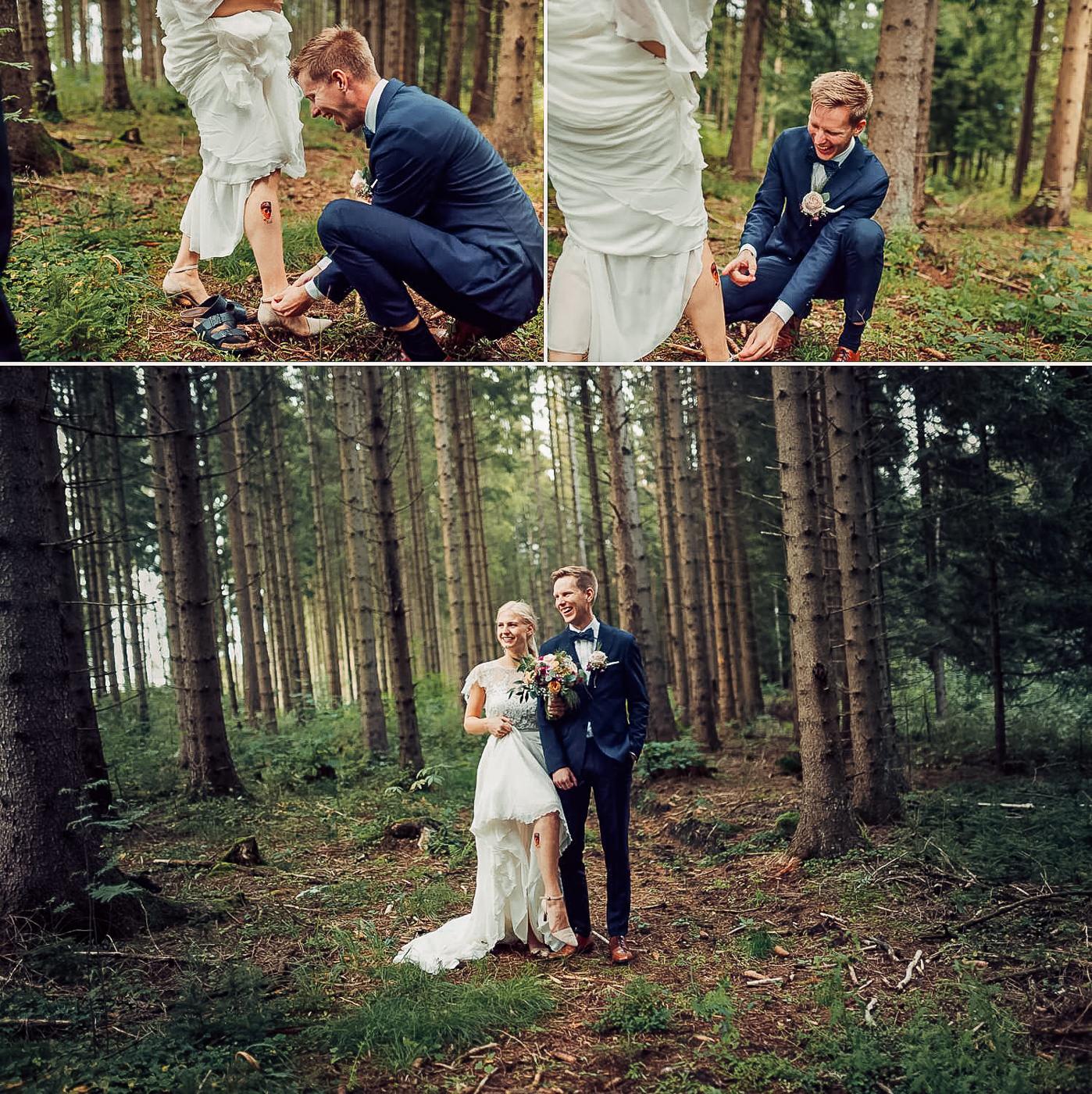 Karianne & Kent - sommerlig heldagsfotografering i Stavern Sommerbryllup Stavern Vestfold 21 Brudepar