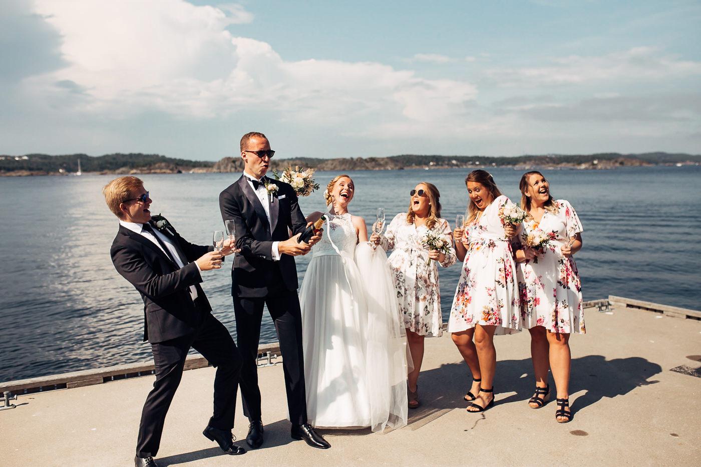 Mette & Lars - eventyrlig sommerbryllup i Grimstad Strand Hotell Fevik Bryllup 36