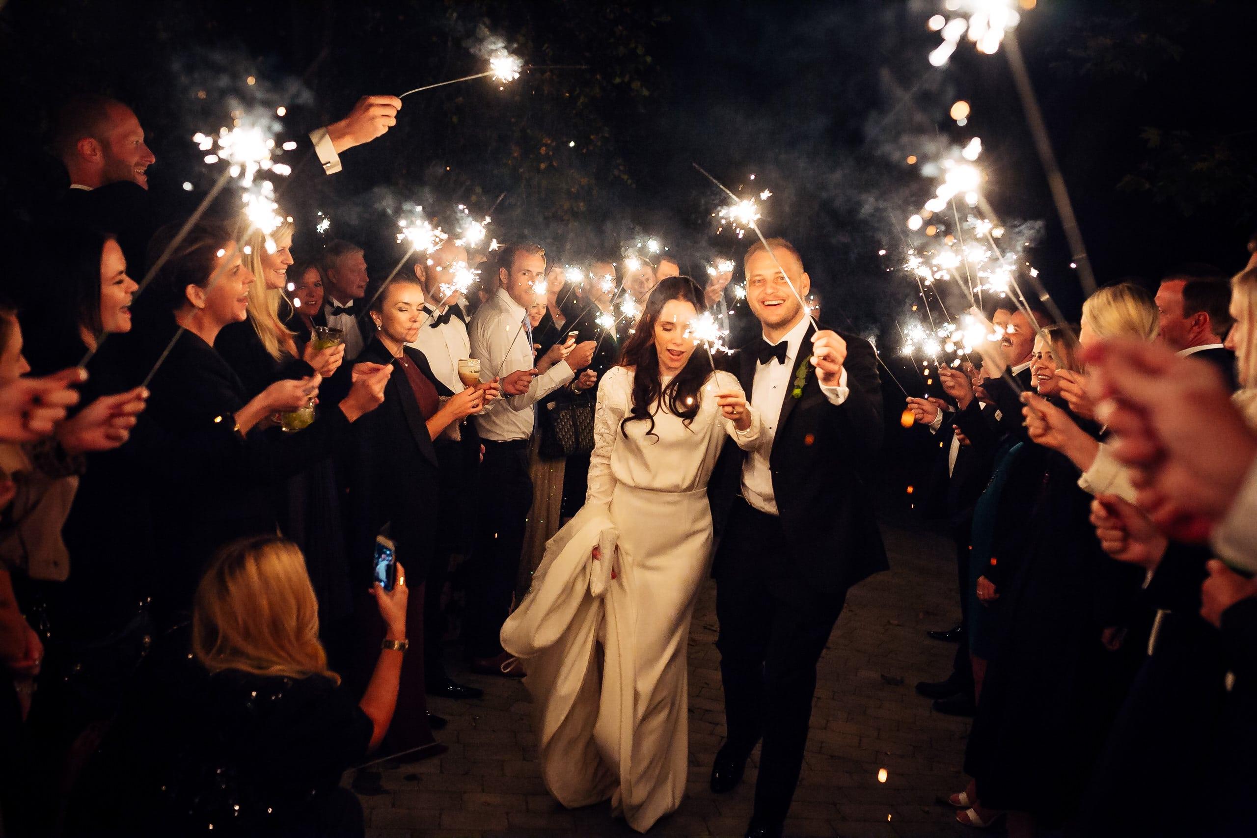En bryllupsdag bryllup stjerneskudd